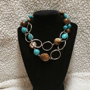 Jewelry - Hoop And Beaded Necklace